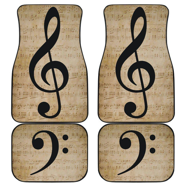 Treble Base Clef Music Floor Mats