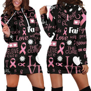 Breast Cancer Awareness Hoodie Dress