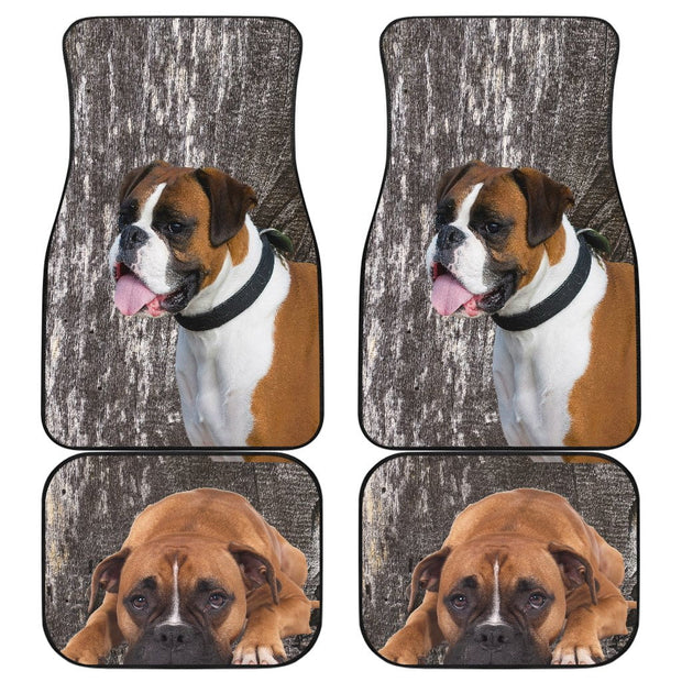 Boxer Car Floor Mats Front-Back Set of 4