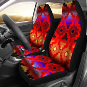 Seven Tribes Horizon Red Car Seat Covers