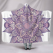 HandCrafted Lotus Mandala Hooded Blanket