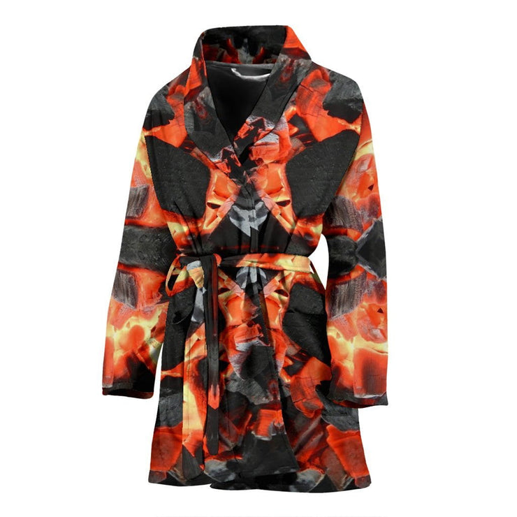 Hot Charcoals Womens Bath Robe