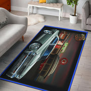 1966 Chevy Nova Route 66 Area Rug