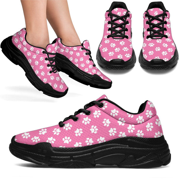 Pink Paw Print Chunky Sneakers