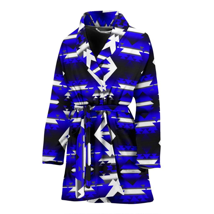 Blue Winter Camp Women's Robe