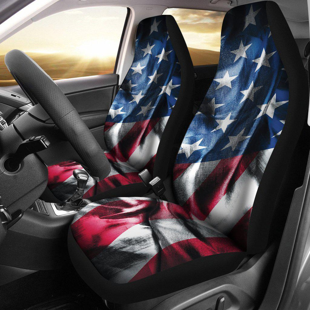American Flag Wrinkle Design Seat Covers Let S Print Big