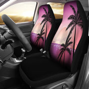 Pink Palm Tree Sunset Design Seat Covers