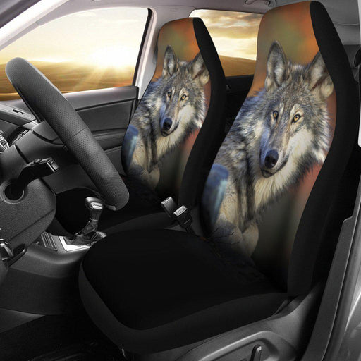 Grey Wolf Design Seat Covers