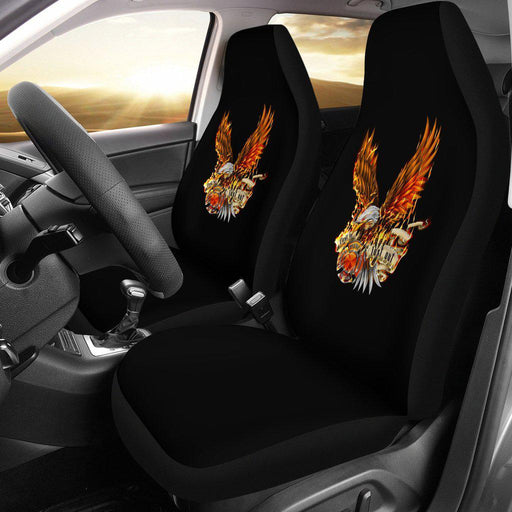 Firefighter First In Last Out Eagle Design Seat Covers