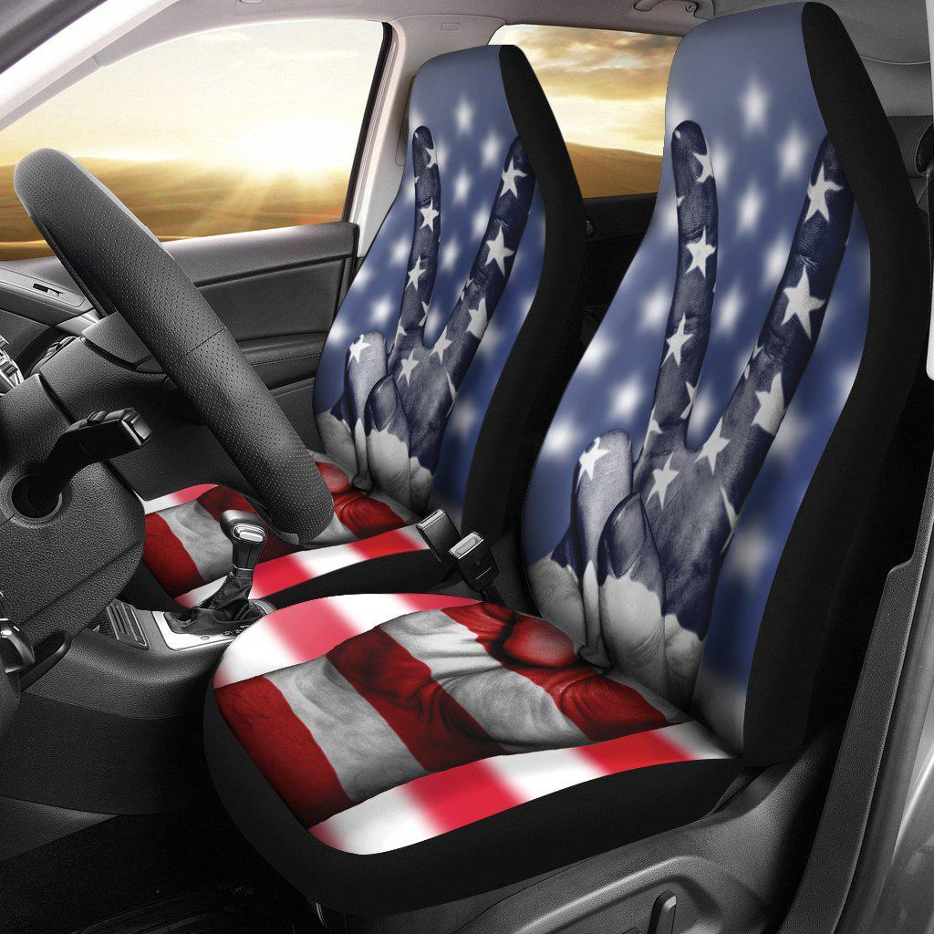 American Flag Peace Seat Covers Let S Print Big
