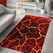 Crackling Flames Fire Area Rug