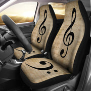 Treble Base Clef Music Seat Covers