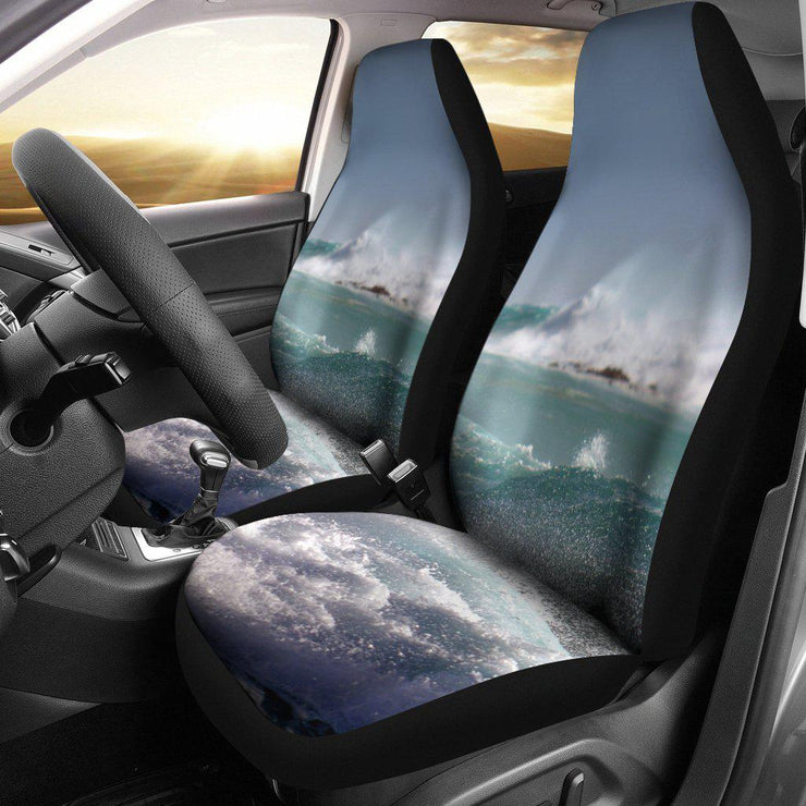 Ocean Waves Water Design Seat Covers