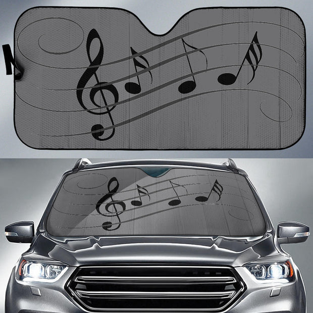 Music Notes Auto Sun Shade