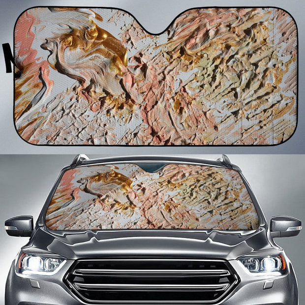 Auto Sun Shade - Abstract Pink Mess Design