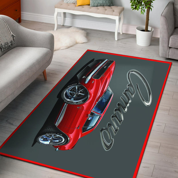 1967 Chevrolet Camaro SS Area Rug Gray