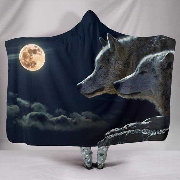 Wolves Hooded Blanket