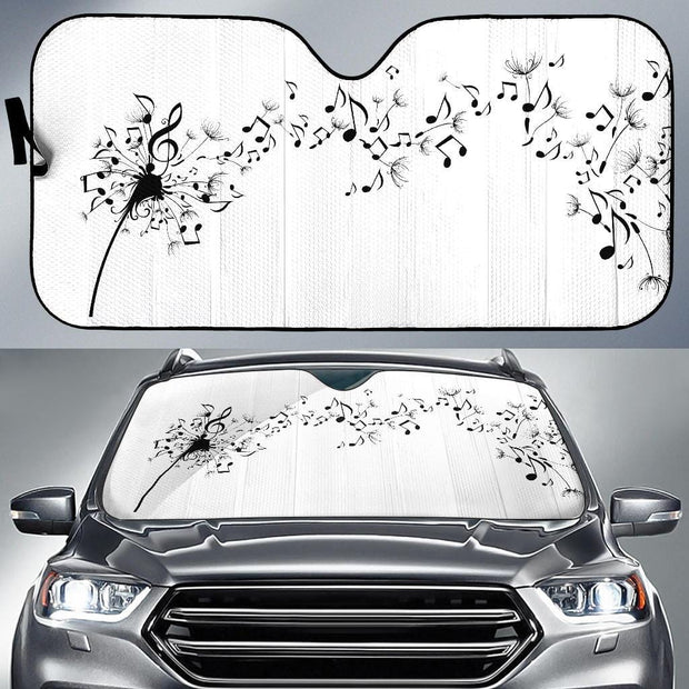 Blowing Music Notes Auto Sun Shade