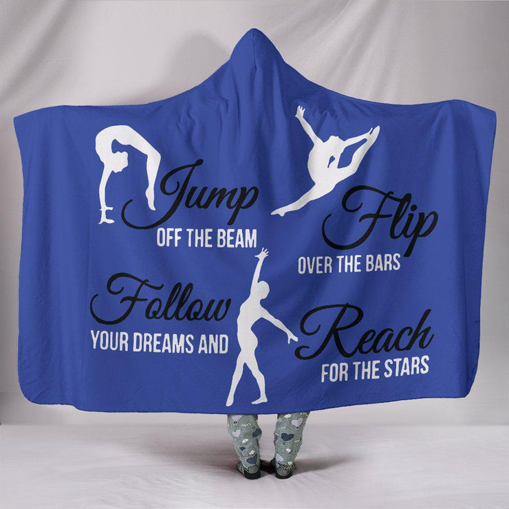 Gymnastics Hooded Blanket Blue
