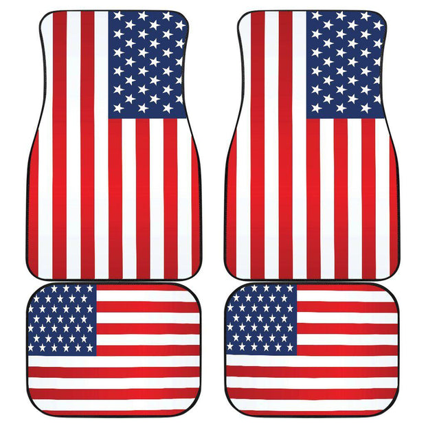 American Flag floor mats Front and Rear Car Floor Mats Set of 4