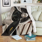 Airplane Propeller Version B Premium Blanket
