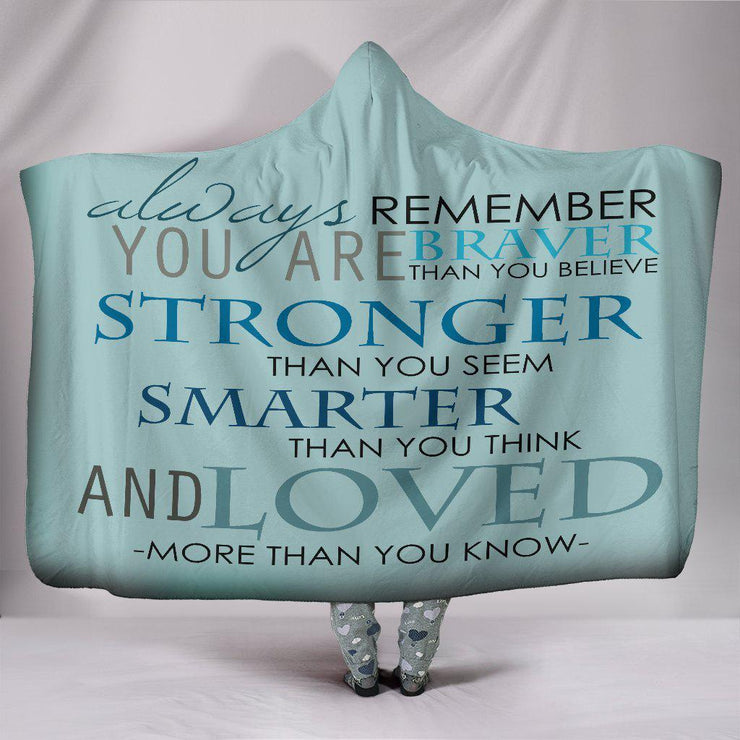 Loved More Than You Know Quote Hooded Blanket