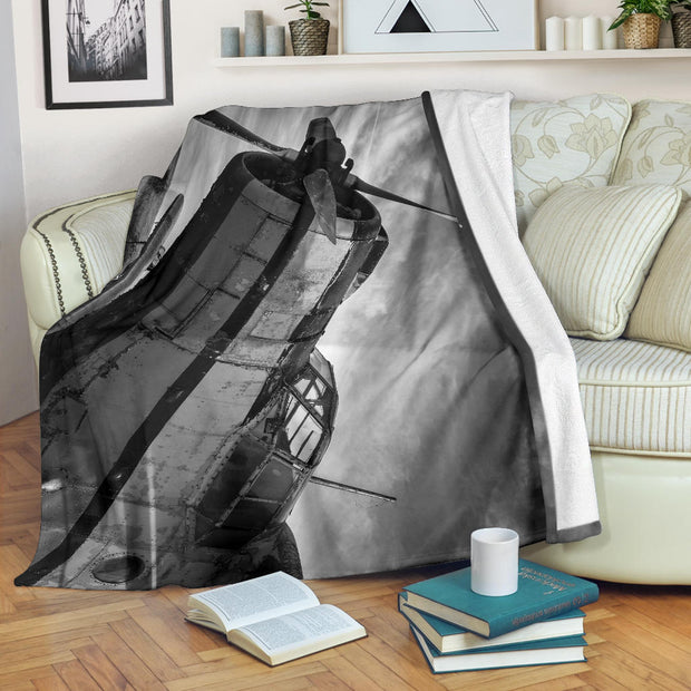 Old Airplane Propeller Premium Blanket