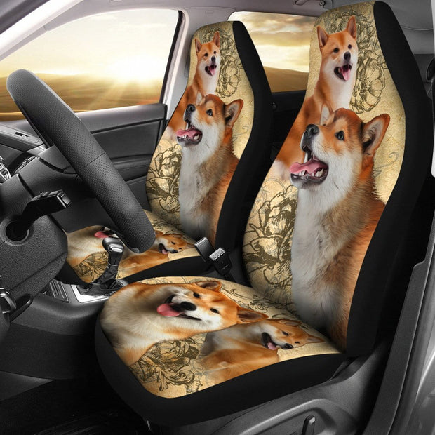 Shiba Inu Car Seat Covers (Set of 2)