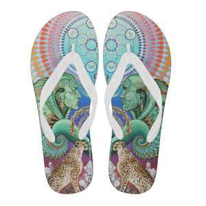 Reflection Reaction - Women's Flip Flops - White