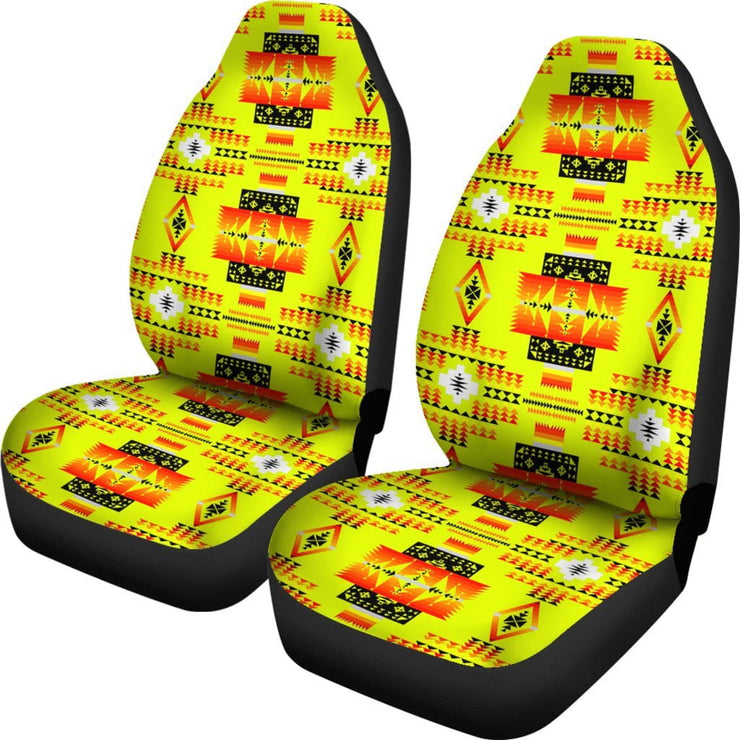 Seven Tribes Yellow Car Seat Covers