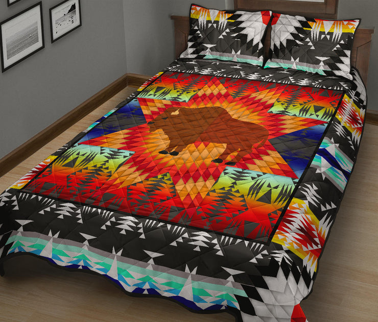 Standing Buffalo Star Quilt Set