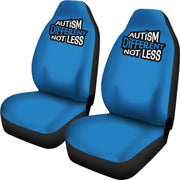 Autism Different Not Less Blue Seat Covers
