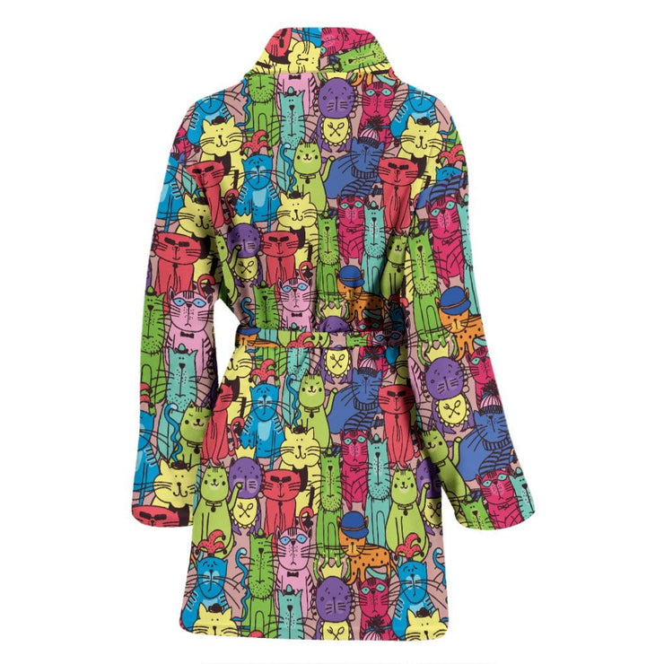 Cartoon Cat Women's Bath Robe