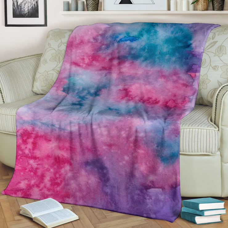 Watercolor Pink Premium Blanket