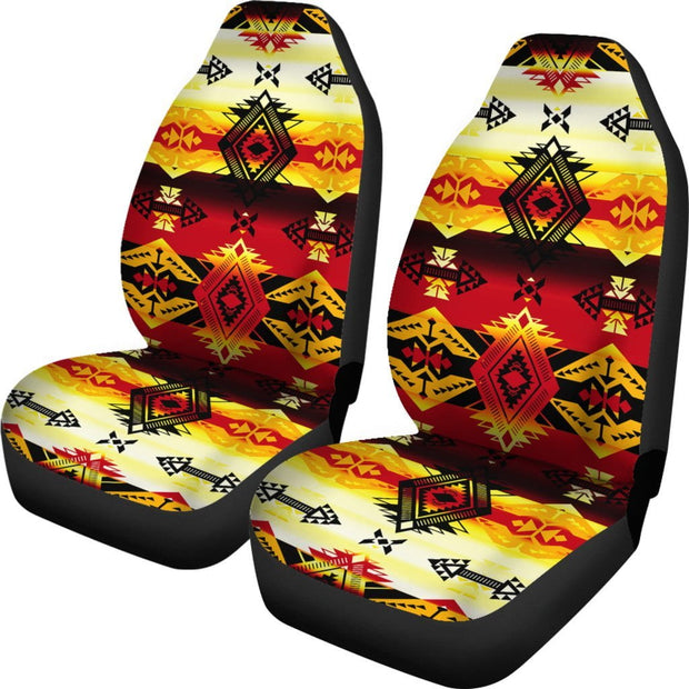 Sovereign Nation Fire Set of 2 Car Seat Covers