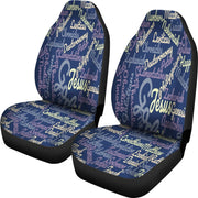 Custom-Made Holy Bible Books Blue Car Seat Covers