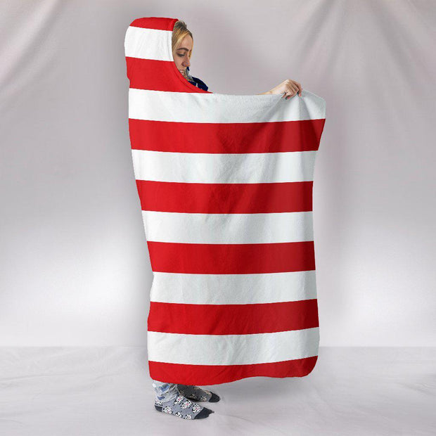 american flag blanket side view