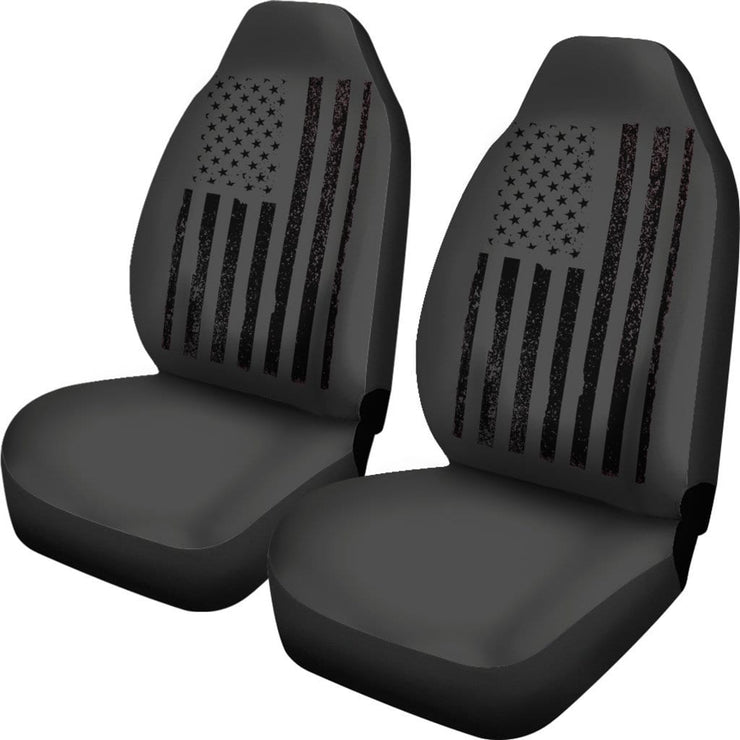 Black American Flag Seat Covers