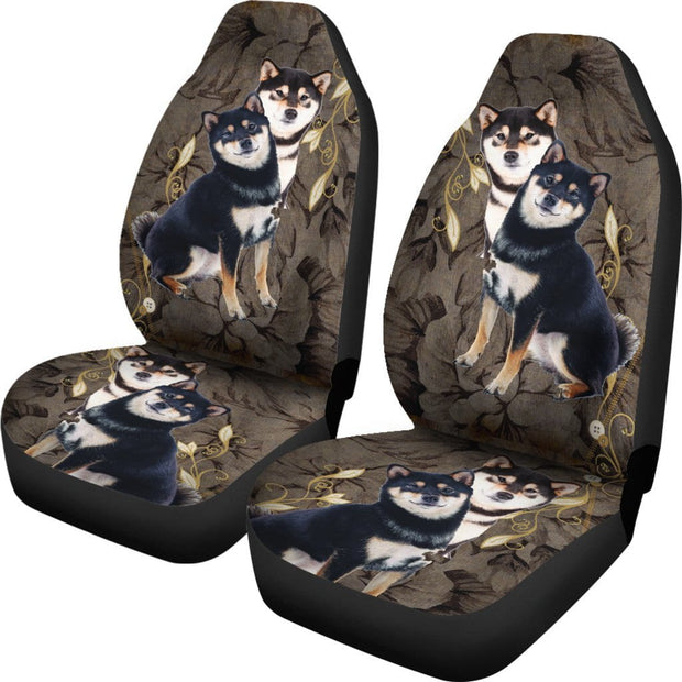 Black Shiba Inu Seat Covers (Set of 2)