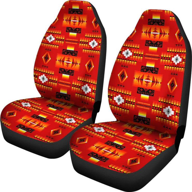 Seven Tribes Red Car Seat Covers