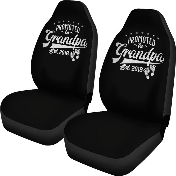 Promoted To Grandpa | Car Seat Covers