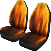 Orange Flames Design 2 Seat Covers
