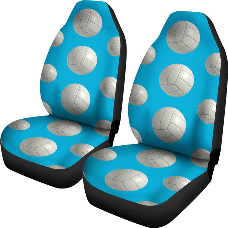 Blue Volleyball Design Seat Covers