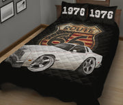 1976 Cutlass Oldsmobile Salon Car Art Route 66 Quilt Set