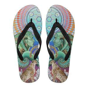 Reflection Reaction - Women's Flip Flops - Black