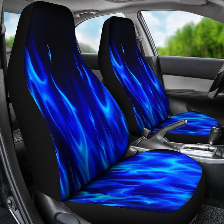 Blue Flames Design Seat Covers