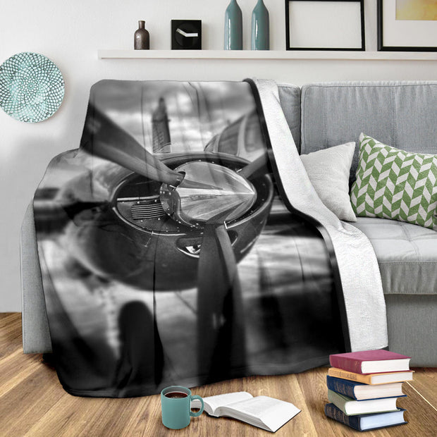 Airplane Propeller Version C Premium Blanket