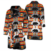 Bear Black and White Men's Bath Robe