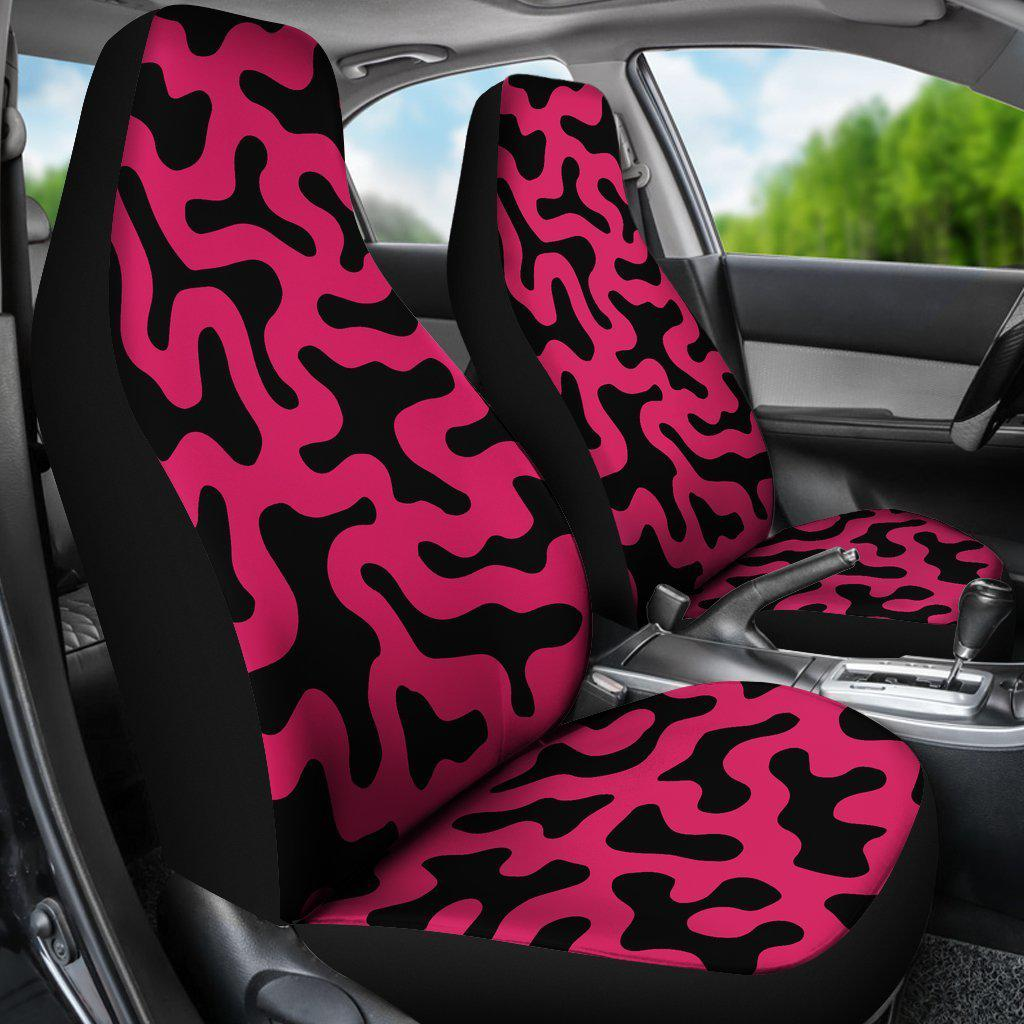Cow Print Pink Pattern Seat Covers – Let\'s Print Big