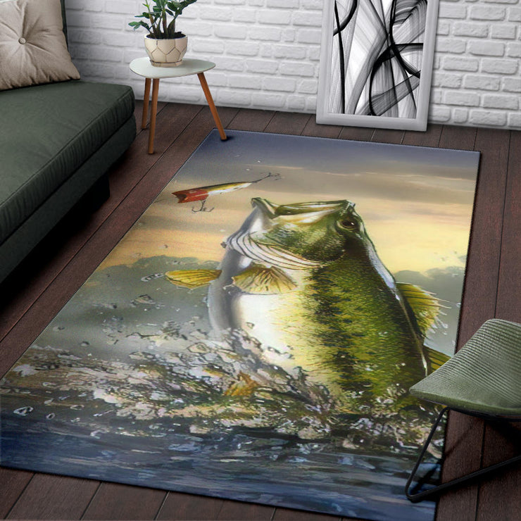 Bass Fish Area Rug